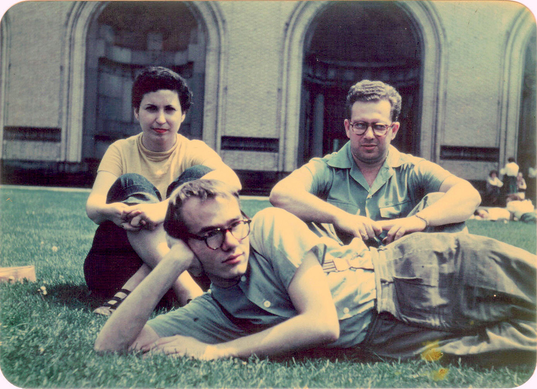Andy Warhol, Dorothy Cantor, and Philip Pearlstein on Carnegie Institute of Technology campus, ca. 1948, courtesy of the Archives of American Art, Smithsonian Institution. Photo by Leonard Kessler.