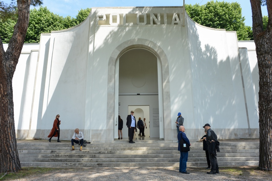 The Polish Pavilion at the 57th Venice Biennale, 2017. Photo by Casey Kelbaugh for Artsy.