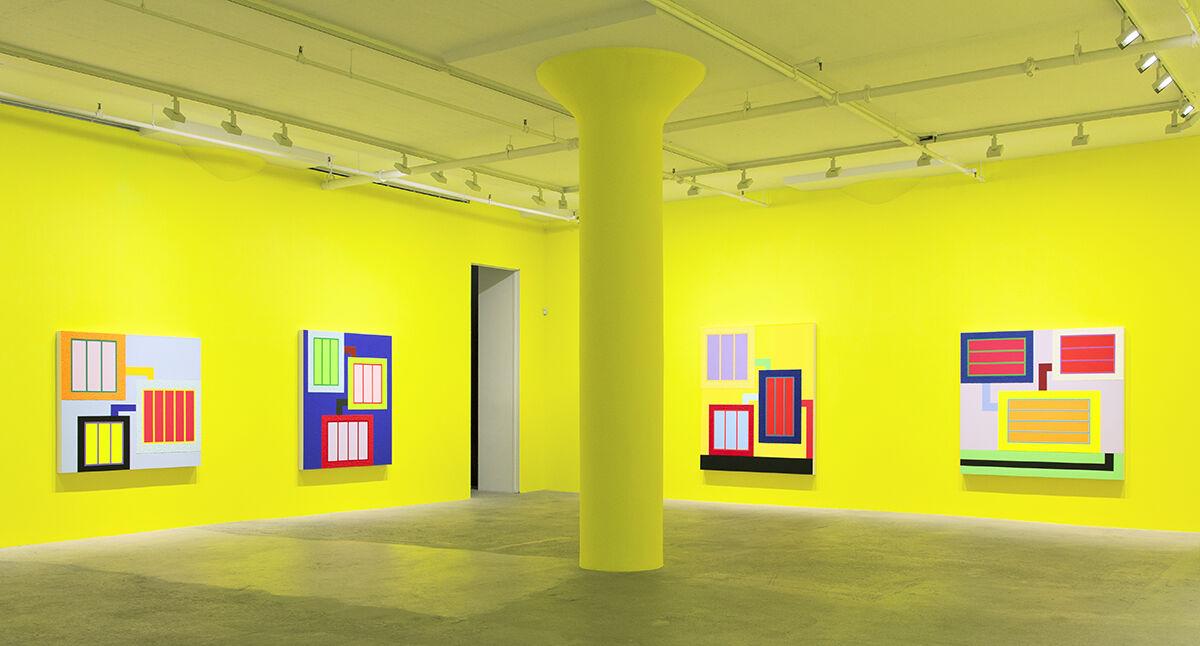 Installation view, Peter Halley, Greene Naftali, New York. Courtesy of the artist and Greene Naftali, New York.