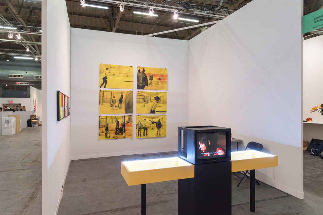 Installation view of Laveronica arte contemporanea's booth at The Armory Show, 2017. Photo by Adam Reich for Artsy.