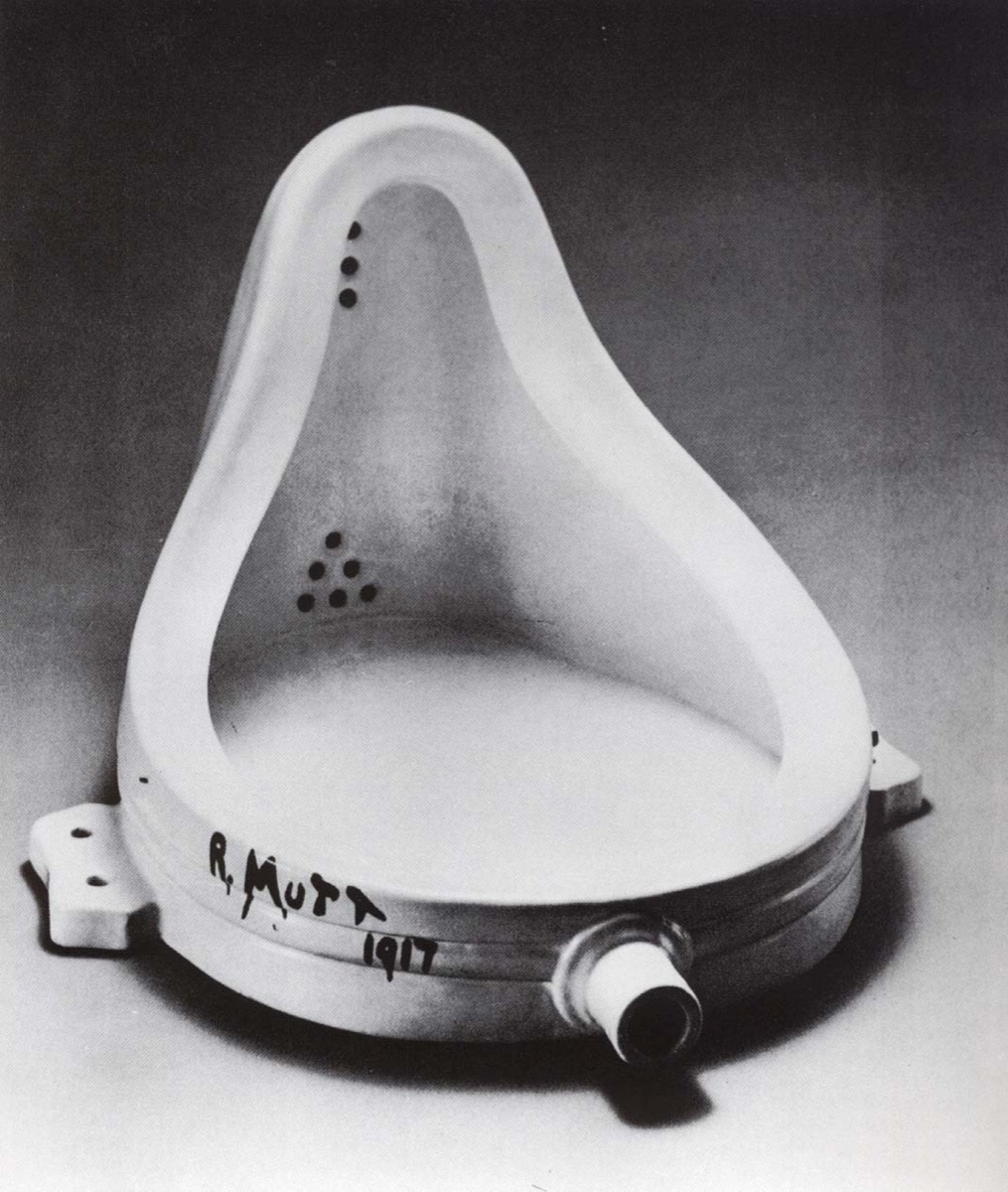 Image of Marcel Duchamp's Fountain, 1917, via Wikimedia Commons.