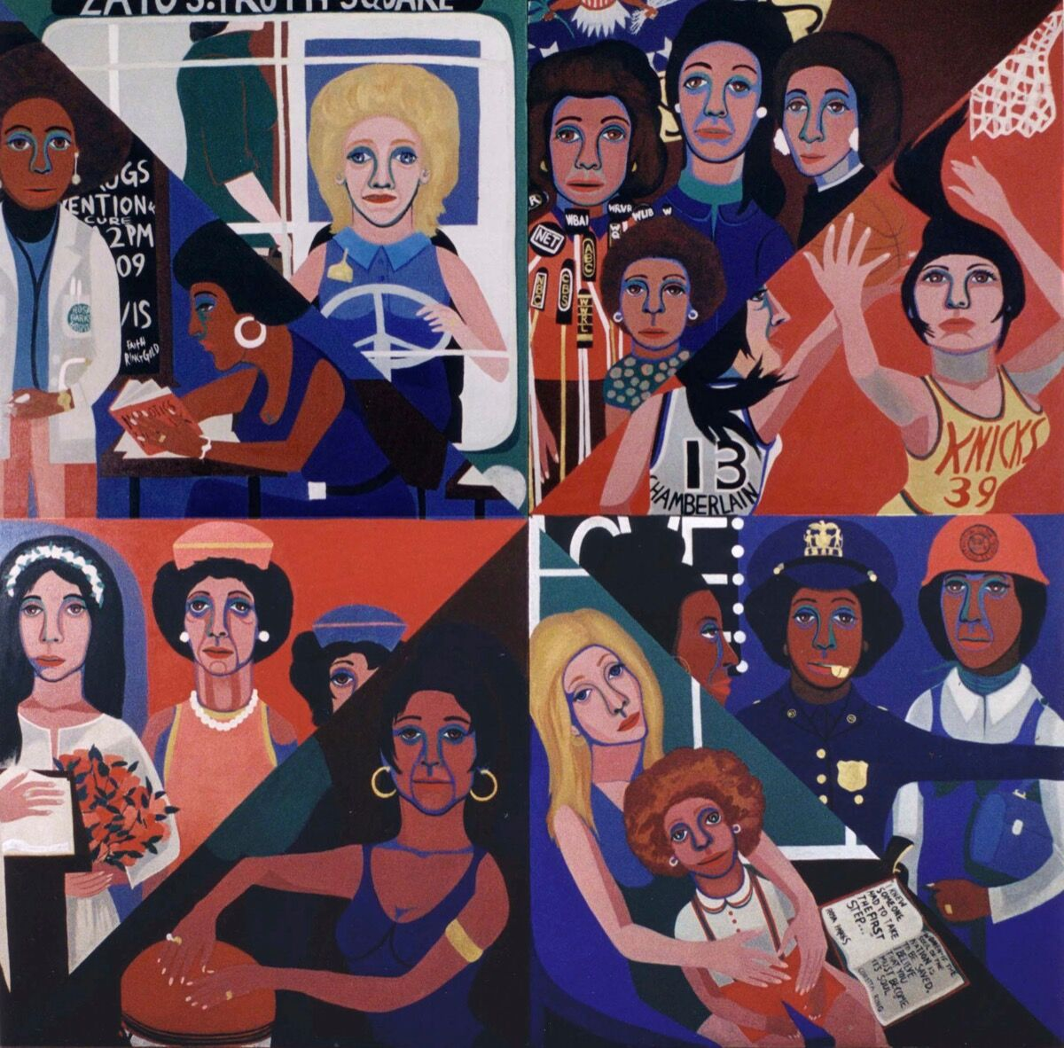 Faith Ringgold, For the Women's House, 1971. Courtesy of Rose M. Singer Center, Rikers Island Correctional Center. © 2017 Faith Ringgold / Artists Rights Society (ARS), New York. Courtesy of the Brooklyn Museum.
