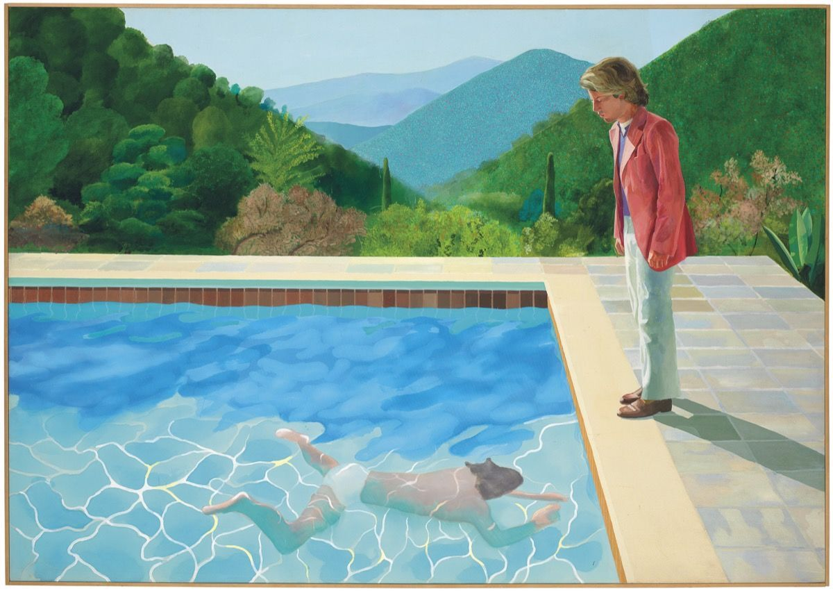 David Hockney, Portrait of an Artist (Pool with Two Figures), 1972. Courtesy of Christie's.