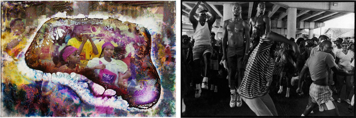 Left: Chandra McCormick, Pink Pride; Right: Chandra McCormick, Ascension. Images courtesy of the artist.