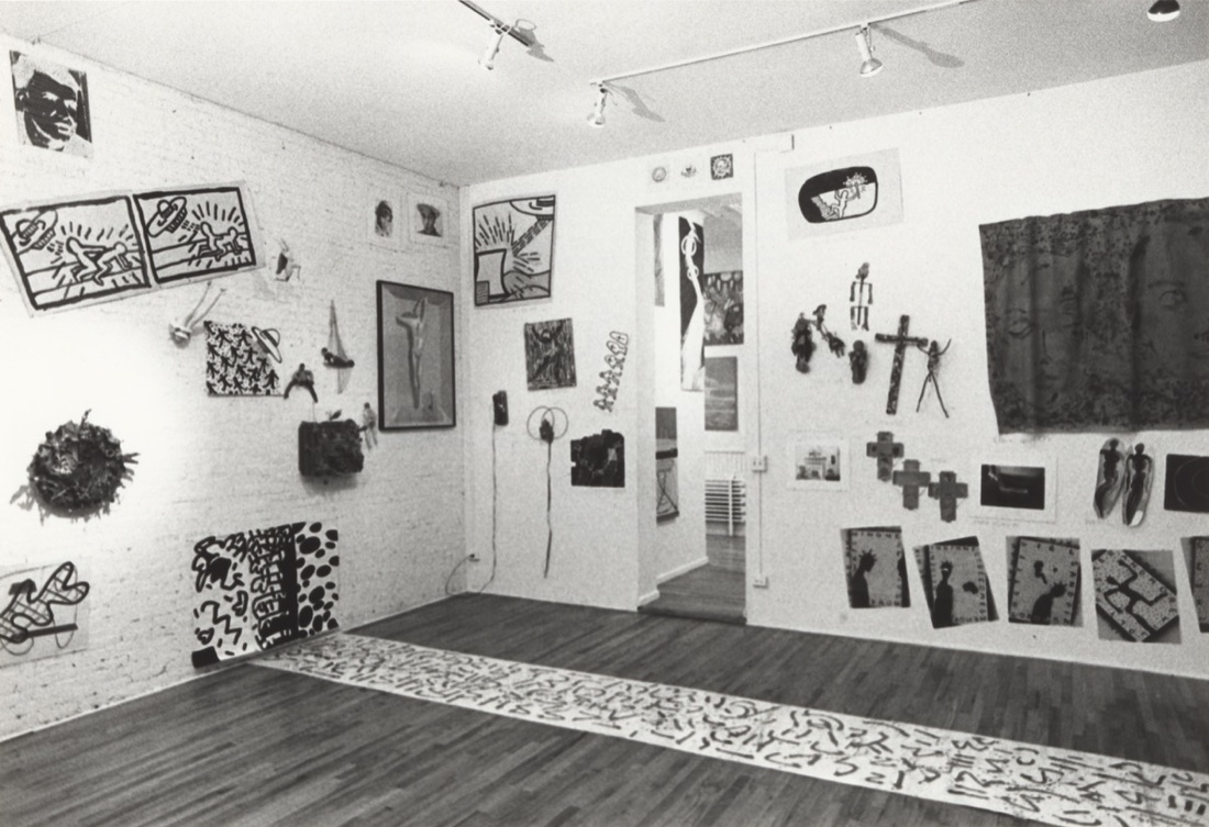 "Installation view of the exhibition ""New York/New Wave,"" at P.S.1 Contemporary Art Center, 1981, currently on view in ""A BIT OF MATTER: The MoMA PS1 Archives, 1976–2000 through September 10, 2017."" MoMA PS1 Archives, III.A.18. The Museum of Modern Art Archives, New York. Courtesy of MoMA."