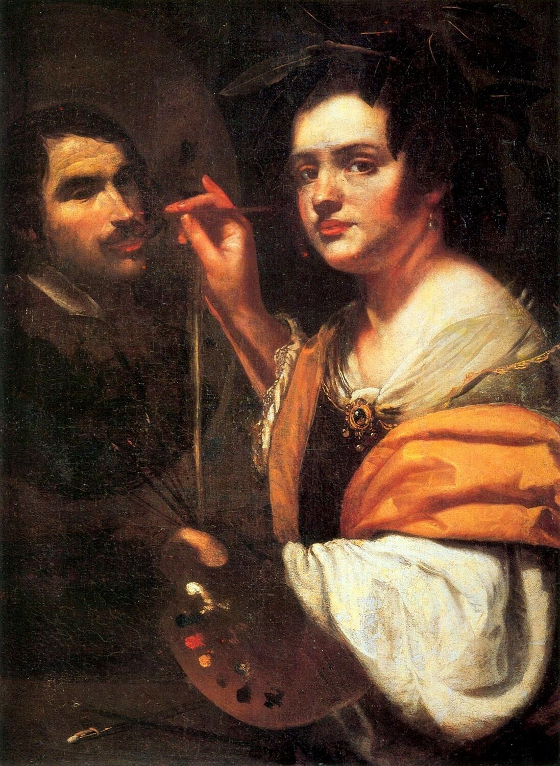 Artemisia Gentileschi, Self-portrait (Allegory of Painting), 1637. Photo via Wikimedia Commons.
