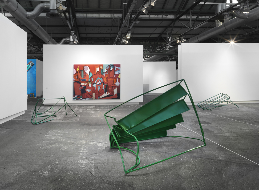 Installation view of Capitain Petzel's booth at Art Berlin Contemporary, 2016. Photo courtesy of Capitain Petzel.