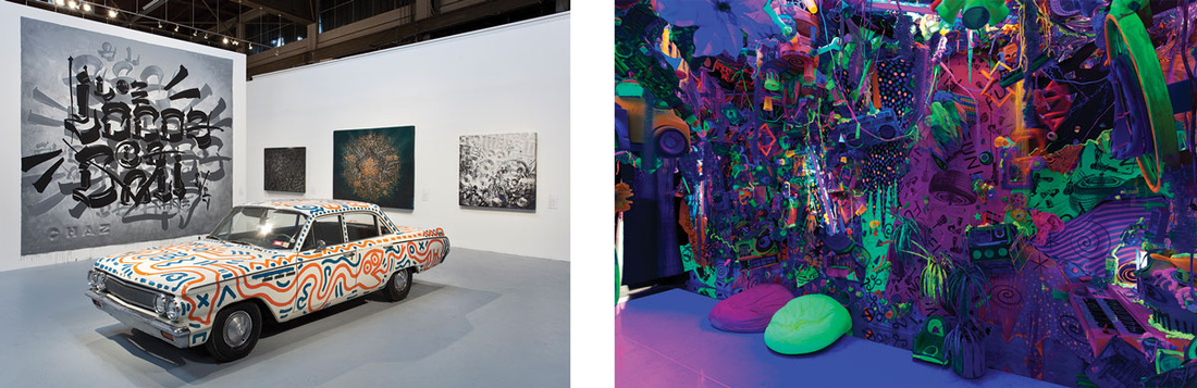 """Installation views of """"Art in the Streets"""" at MOCA, Los Angeles (2011). Photos courtesy of the museum."""