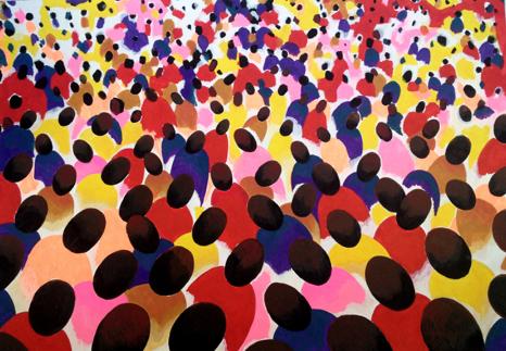 Svetlana Shuvaeva,Fabric, Crowd Character,2015; Courtesy of the artist and Cosmoscow.