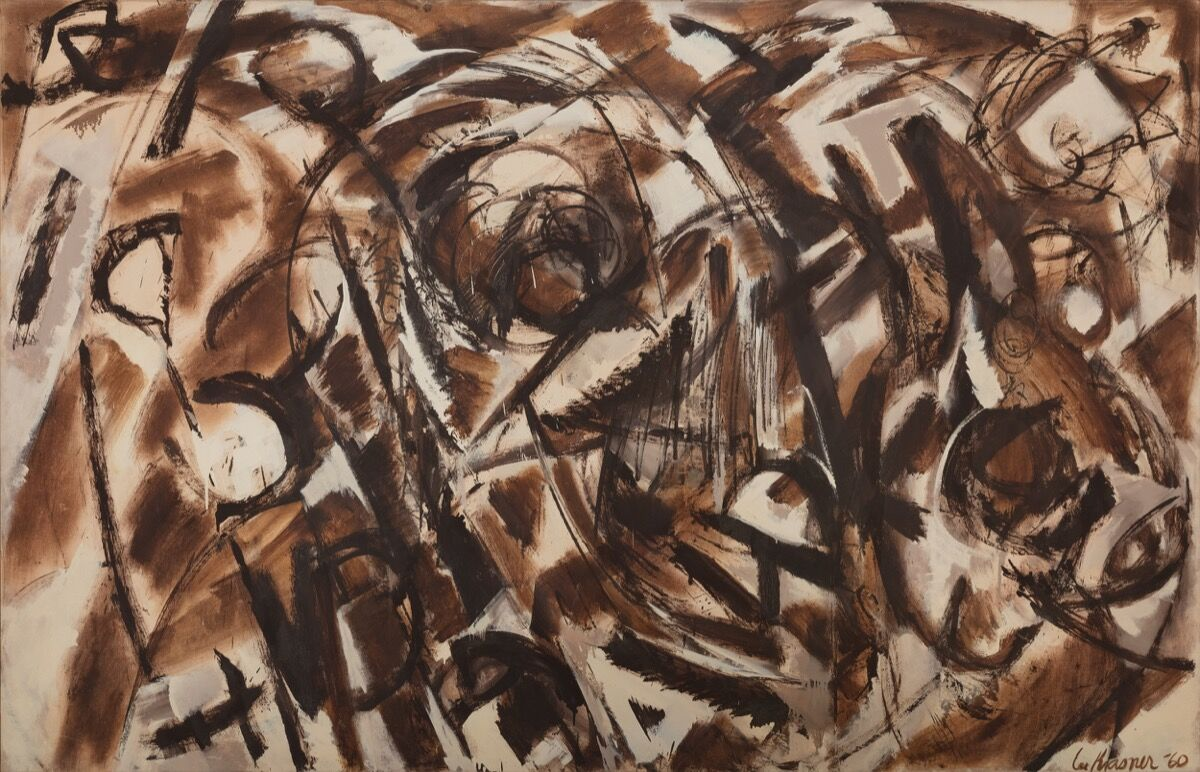 Lee Krasner, Seeded, 1960. © 2017 The Pollock-Krasner Foundation / Artists Rights Society (ARS), New York. Image Courtesy of Paul Kasmin Gallery.