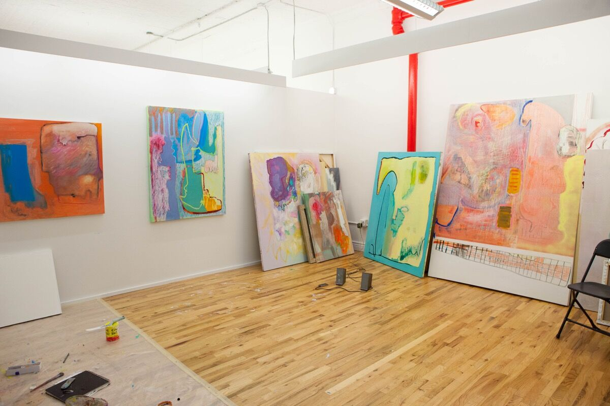 View of August Love Volbrecht's studio. Photo by Sara Luckey. Courtesy of Hercules Art Studio Program.