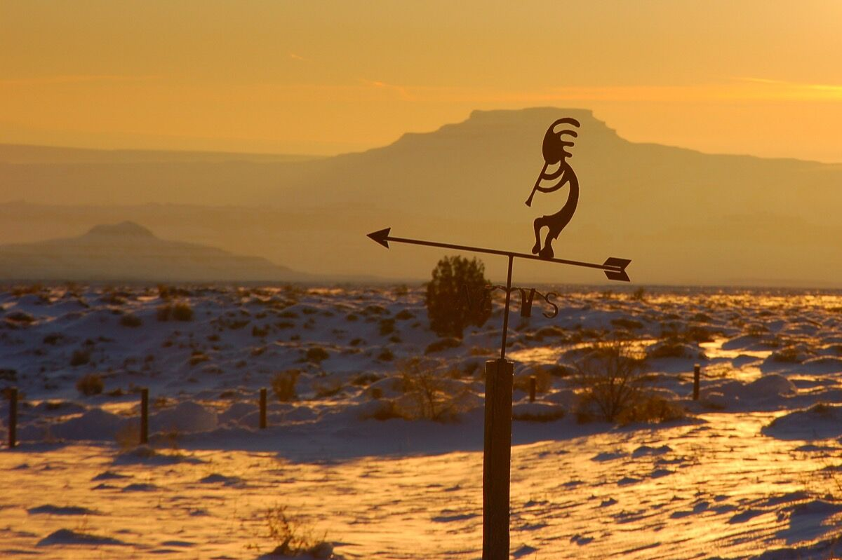Kokopelli at the Valley of the Gods Bed & Breakfast, 2010. Photo by Larry Lamsa, via Flickr.