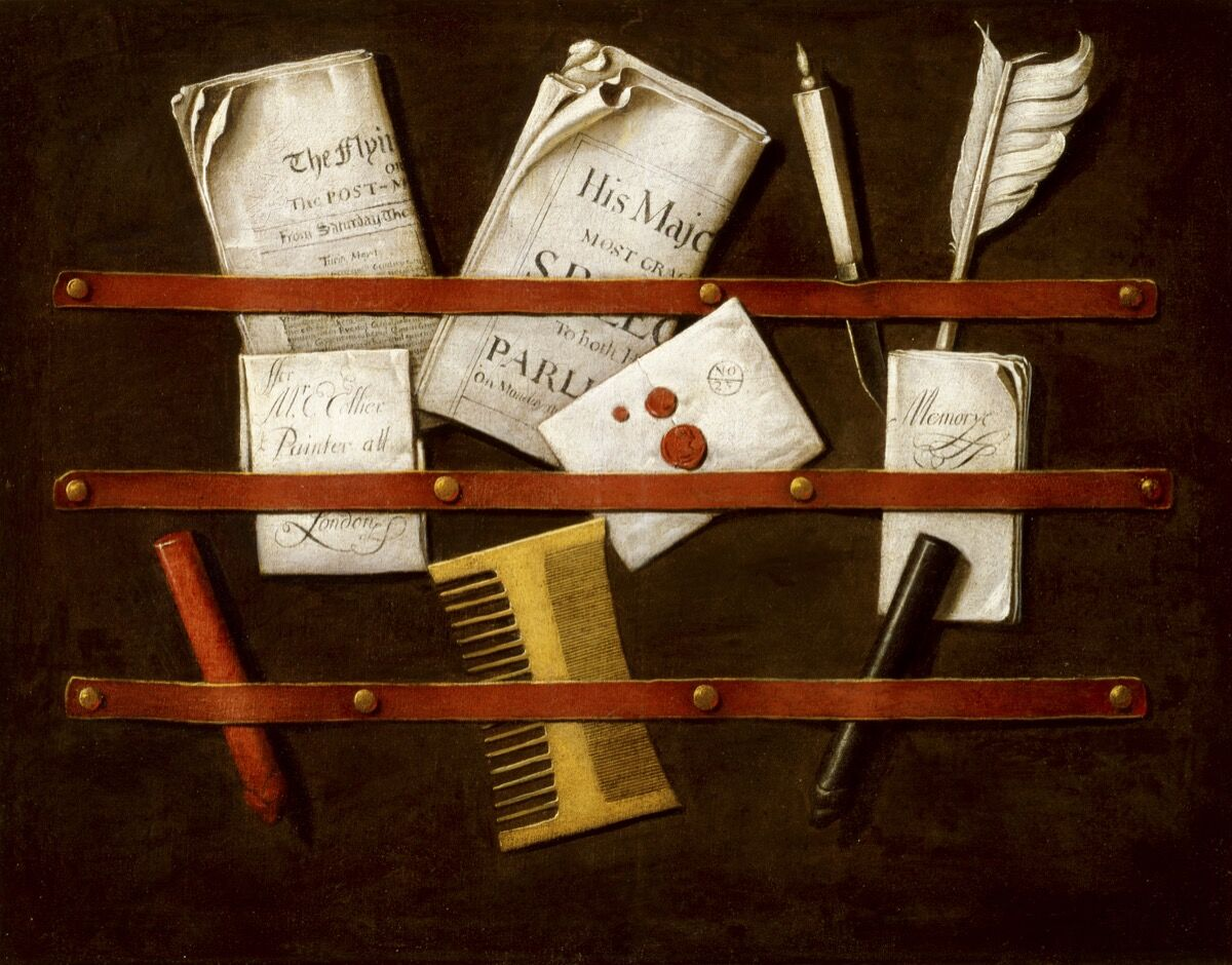Edwaert Colyer, Still Life, ca. 1696. Courtesy of the Indianapolis Museum of Art.