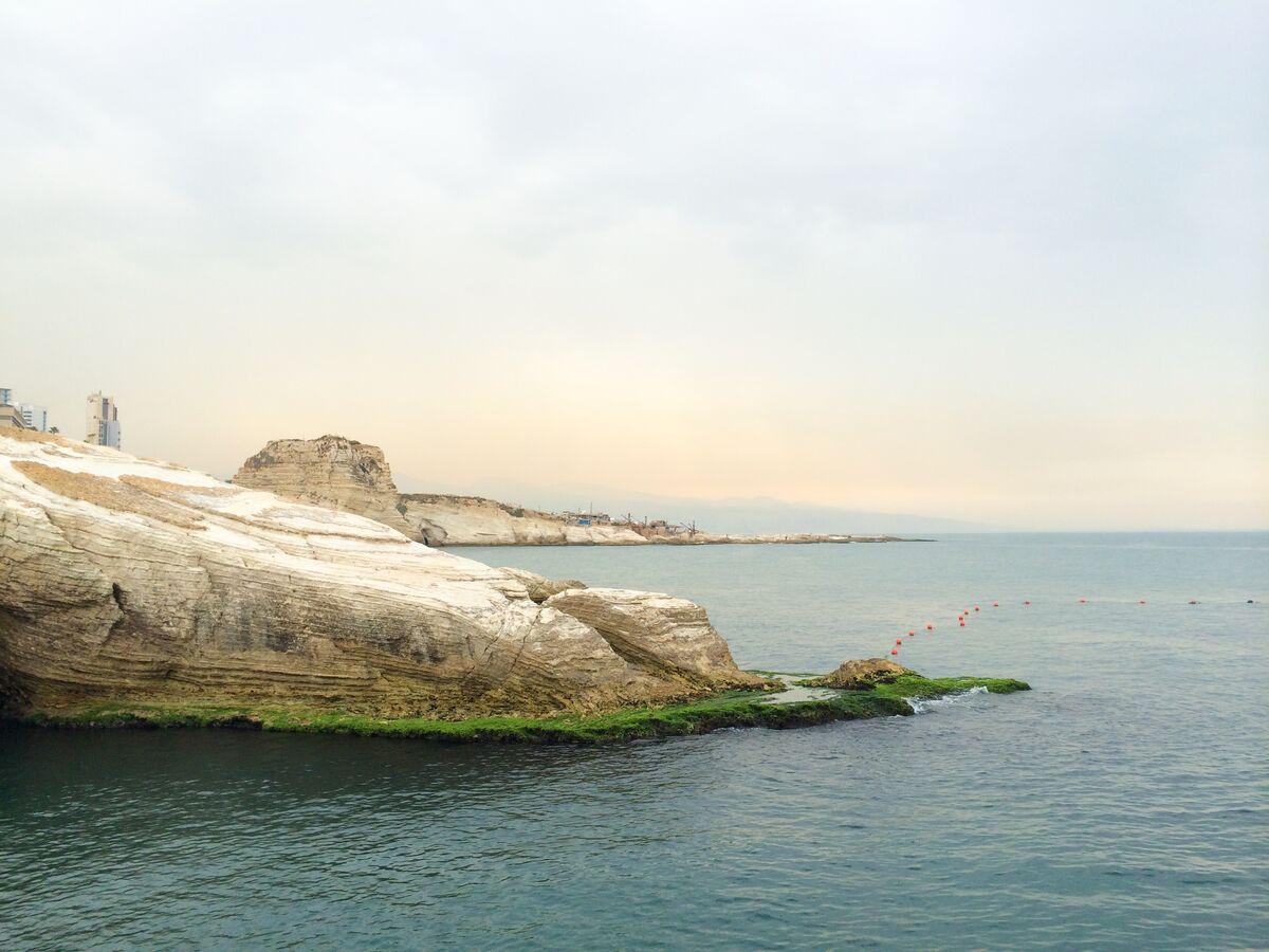 View of theBeirut coastline. Photo by Alexxa Gotthardt.