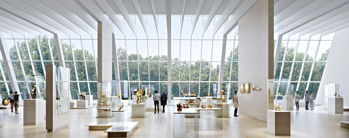 The new Americas Galleries, looking south, at the Metropolitan Museum of Art. Image by wHY, courtesy the Metropolitan Museum of Art.