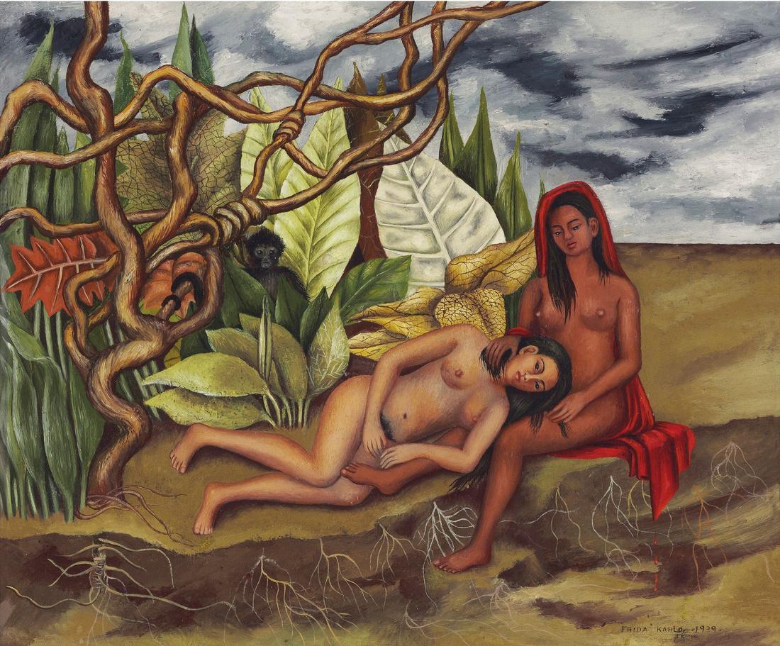 Frida Kahlo, Dos Desnunos en el Bosque (La Tierra Misma), 1939. Image courtesy of Christie's Images Ltd, 2016.