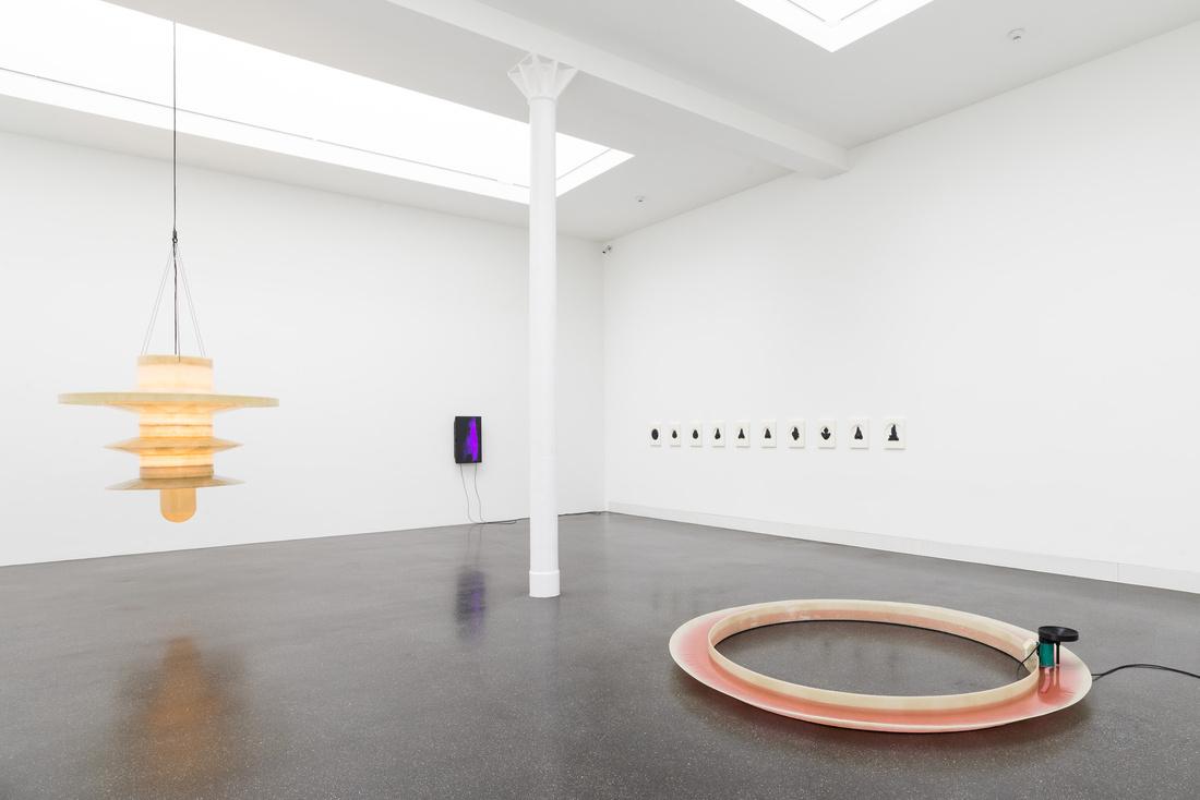 """Installation view of """"Florian Germann: Heavy Rain"""" at Galerie Gregor Staiger, Zurich, 2015. Photo © ggsps, courtesy of the artist and Galerie Gregor Staiger."""