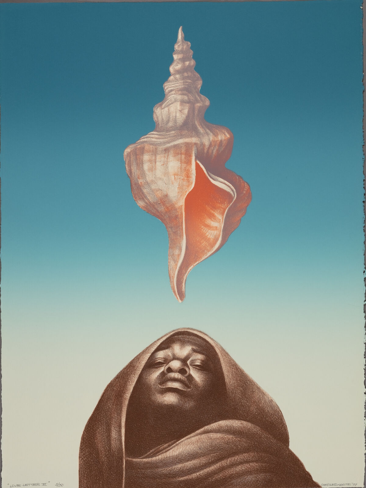 Charles White, Love Letter III, 1977. © The Charles White Archives/ The Art Institute of Chicago. Courtesy of The Museum of the Modern Art.