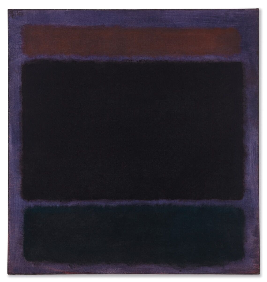 Mark Rothko, Untitled (Rust, Blacks on Plum), 1962. Courtesy of Christie's.