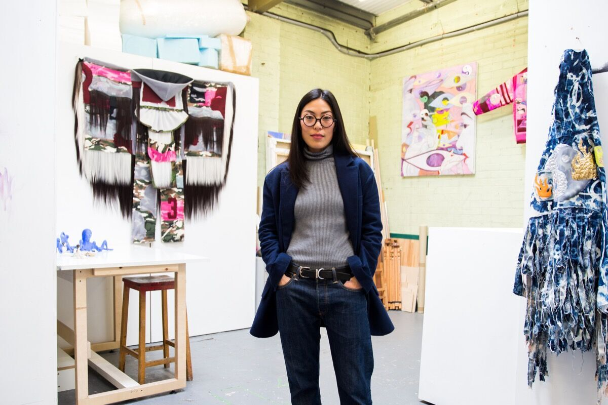Portrait of Zadie Xa in her London studio by Kate Berry for Artsy.