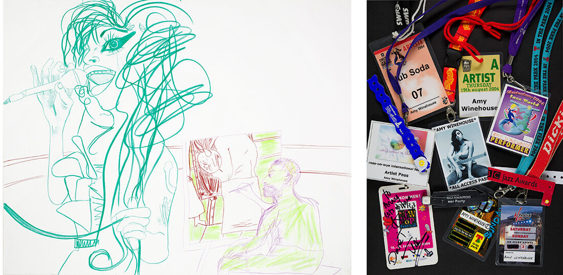 Rachel Harrison, Untitled, 2011, courtesy of the artist and Contemporary Jewish Museum (left).Festival passes, various dates, courtesy Contemporary Jewish Museum (right).