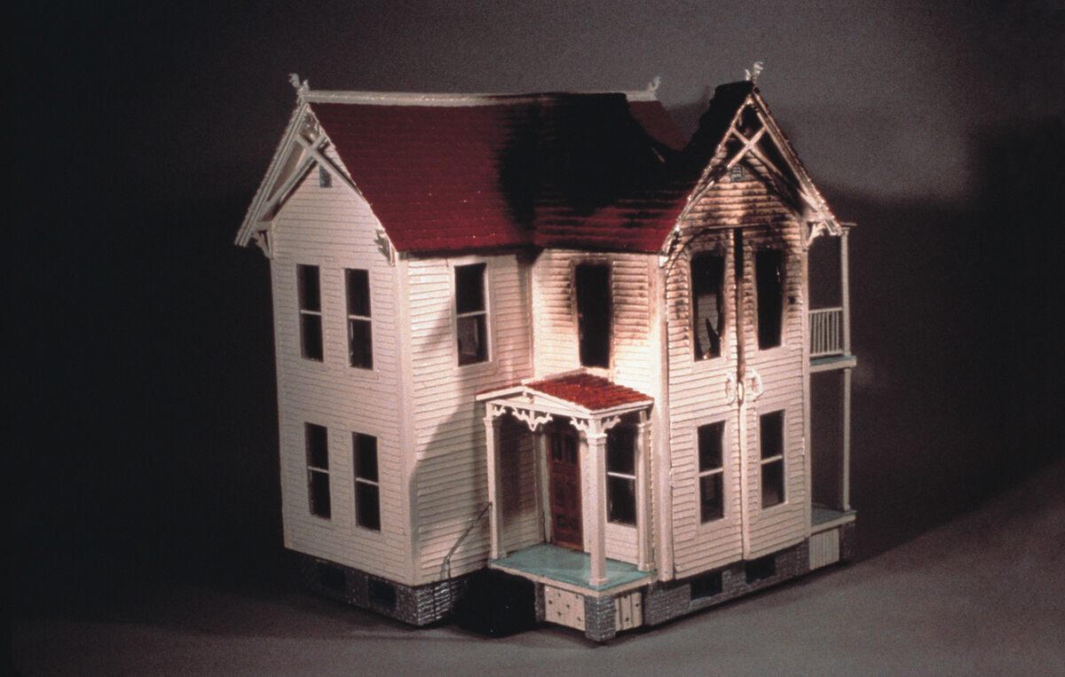 Robert Gober, Burnt House, 1979–80. Courtesy of Matthew Marks Gallery.