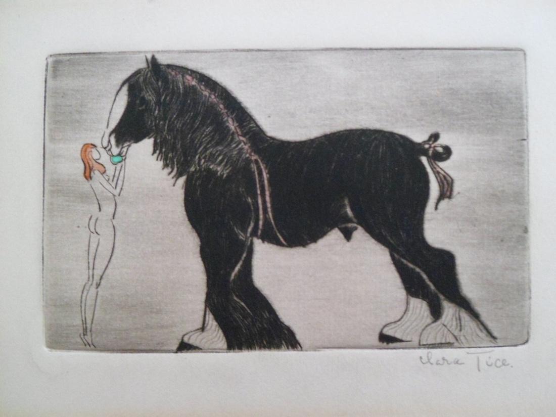 Clara Tice, Nude Woman Feeding Horse. Courtesy of the artist.