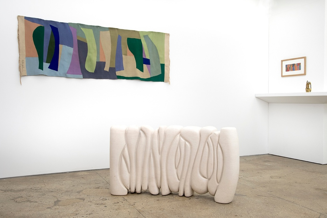 Installation view of Saloua Raouda Choucair at CRG Gallery. Photo courtesy of CRG Gallery.