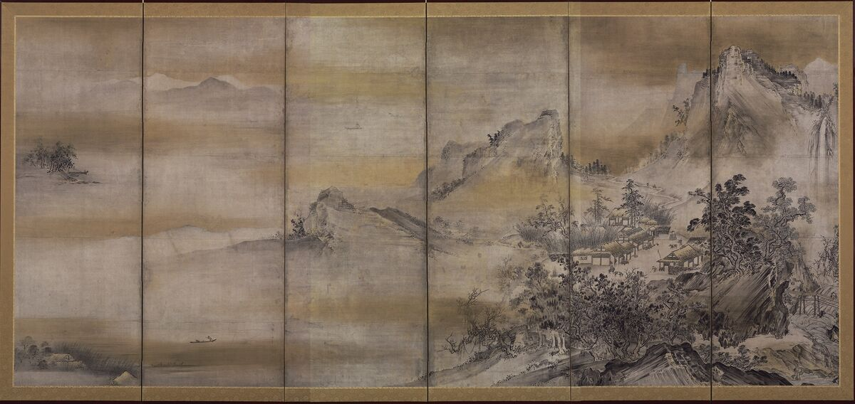 Hasegawa Tōhaku (Nobuharu), Eight Views of Xiao and Xiang, 16th century (Momoyama period).