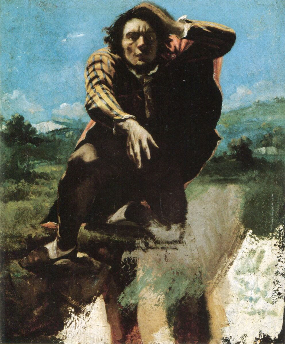 Gustave Courbet, Man Mad with Fear, c. 1843. Image via Wikimedia Commons.