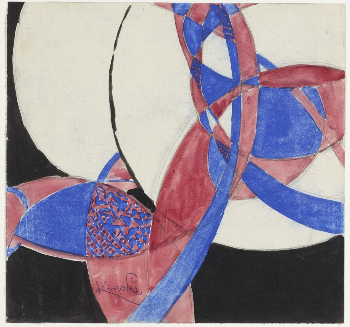 František Kupka, Amorpha: Fugue in Two Colors, 1912. Courtesy of The Museum of Modern Art, NY. © 2017 Artists Rights Society (ARS), New York / ADAGP, Paris.