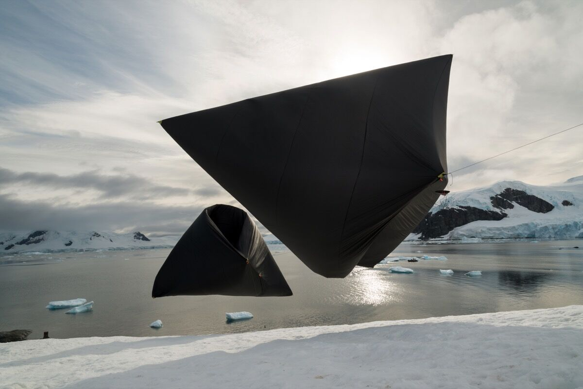 Work by Tomás Saraceno. Courtesy of Antarctic Biennale.