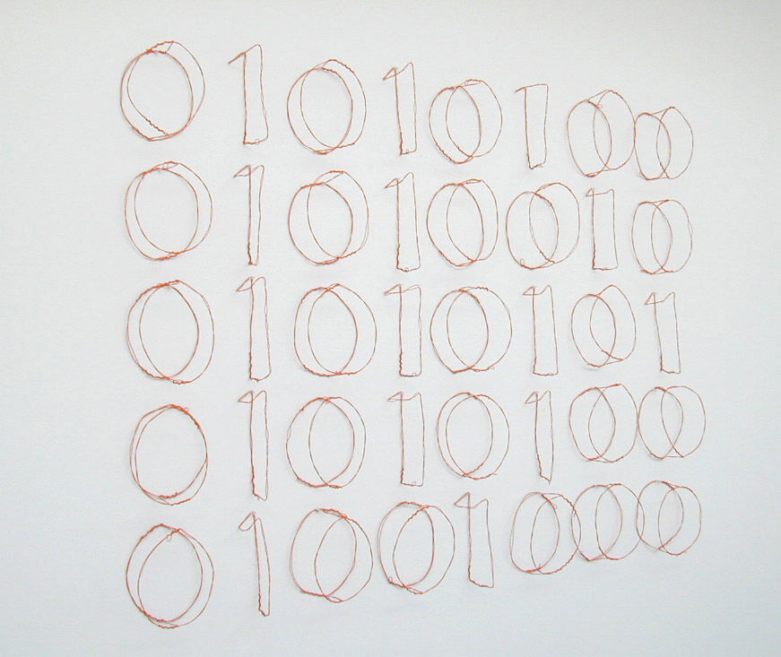 Jonathan Borofsky, Truth (binary computer code), 1995. © Jonathan Borofsky. Courtesy of Paula Cooper Gallery, New York.