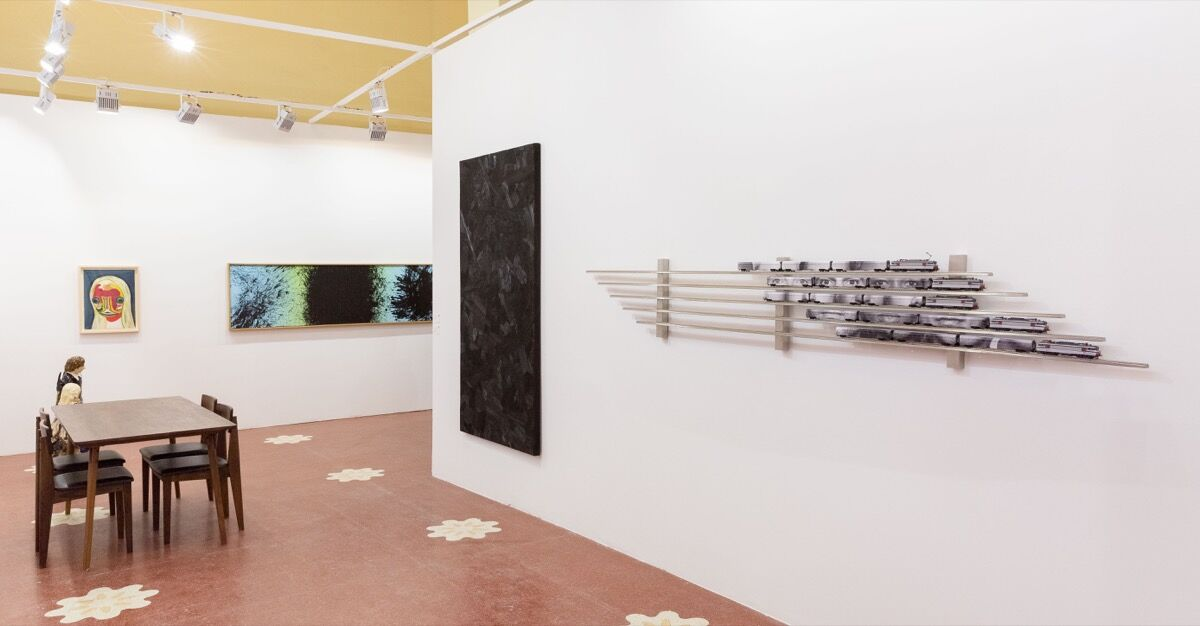 Installation view of Perrotin's booth at Art021, 2018. Courtesy of Perrotin.