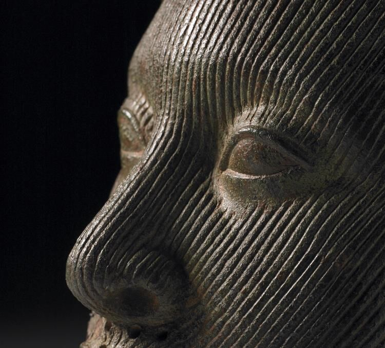 Detail of The Ife Head, ca. 14th-15th Century. Image via the British Museum.