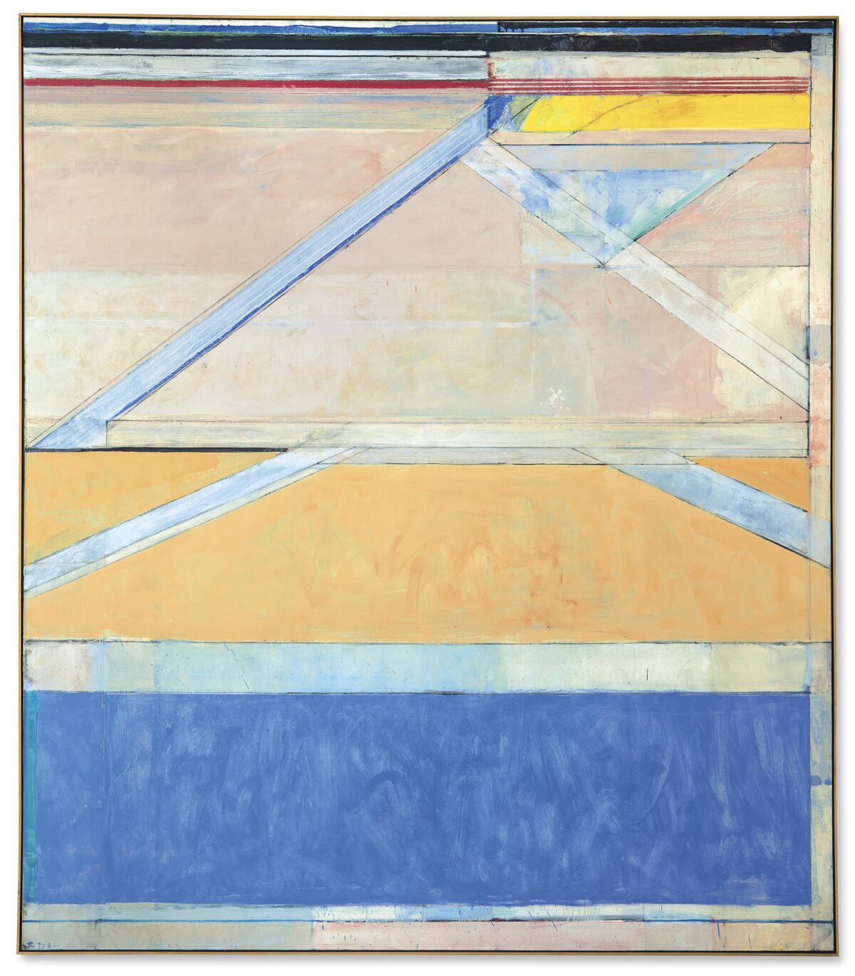 Richard Diebenkorn, Ocean Park #126, 1984. Courtesy of Christie's.