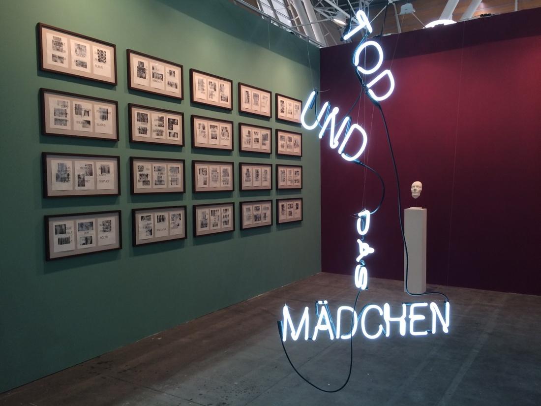 Installation view of work by Sybren Renema at Dürst Britt & Mayhew's booth at Artissima, 2016. Photo courtesy of Dürst Britt & Mayhew.