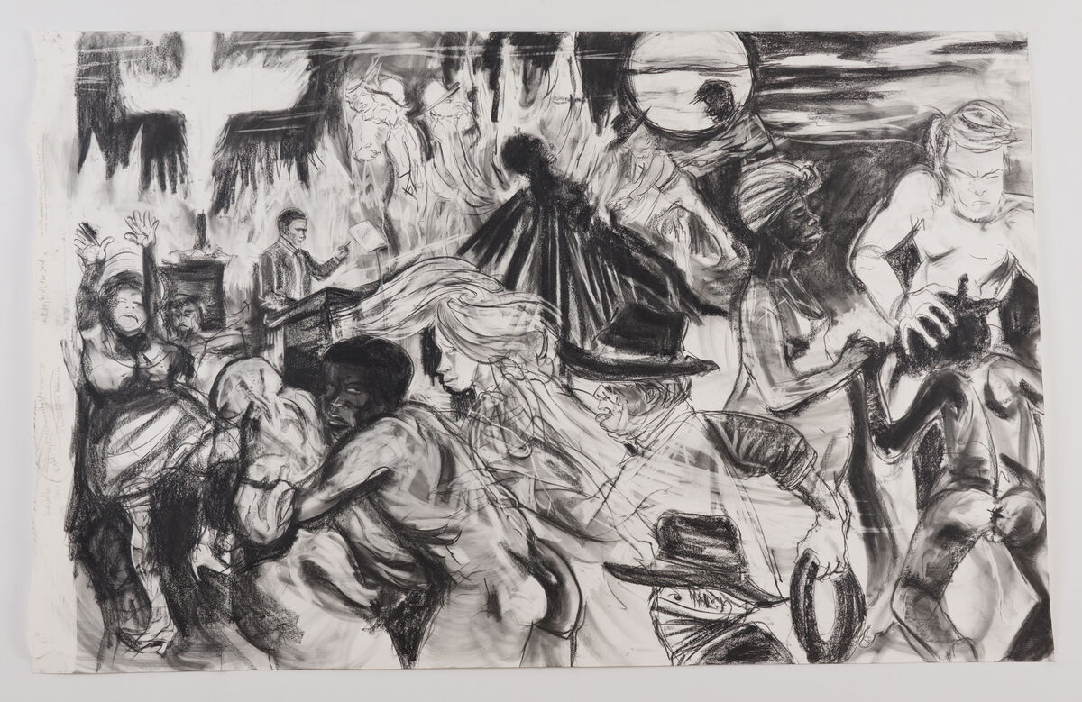 Kara Walker,  The moral arc of history ideally bends towards justice but just as soon as not curves back around toward barbarism, sadism, and unrestrained chaos , 2010. © Kara Walker. Courtesy of Sikkema Jenkins & Co., New York.
