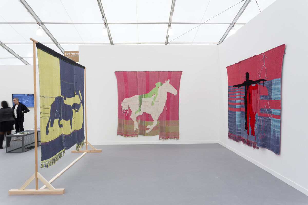 Installation view of Various Small Fire's booth at Frieze New York, 2019. Photo by Renato Ghiazza. Courtesy the artist and Various Small Fires, Los Angeles.