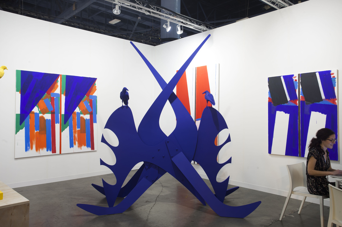 Installation view of Cherry and Martin's booth at Art Basel in Miami Beach, 2015. Photo by Oriol Tarridas for Artsy.