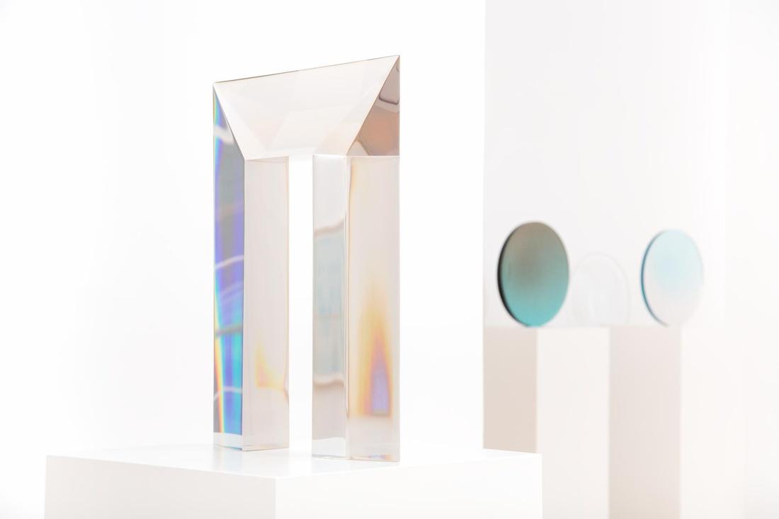 Installation view,DeWain Valentine,Almine Rech Gallery, London.Photo byMelissa Castro Duarte.