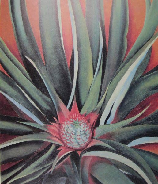 Georgia O'Keeffe, Pineapple Bud, 1939. Honolulu Museum of Art.