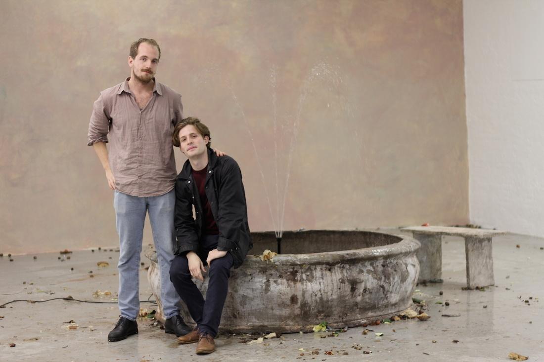 Artists Mathias Toubro (left) and Mathias Dyhr (right). Photo byMette Kerstein.