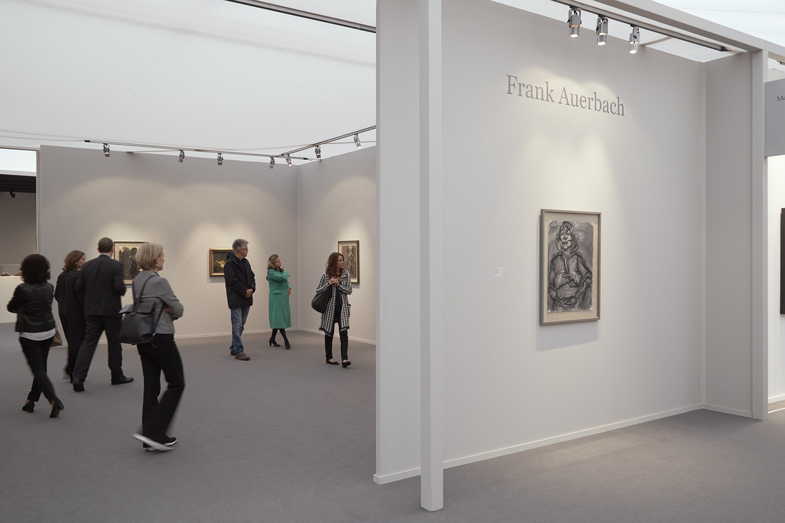 Marlborough Fine Art's booth at Frieze Masters, 2015. Photo by Benjamin Westoby for Artsy.