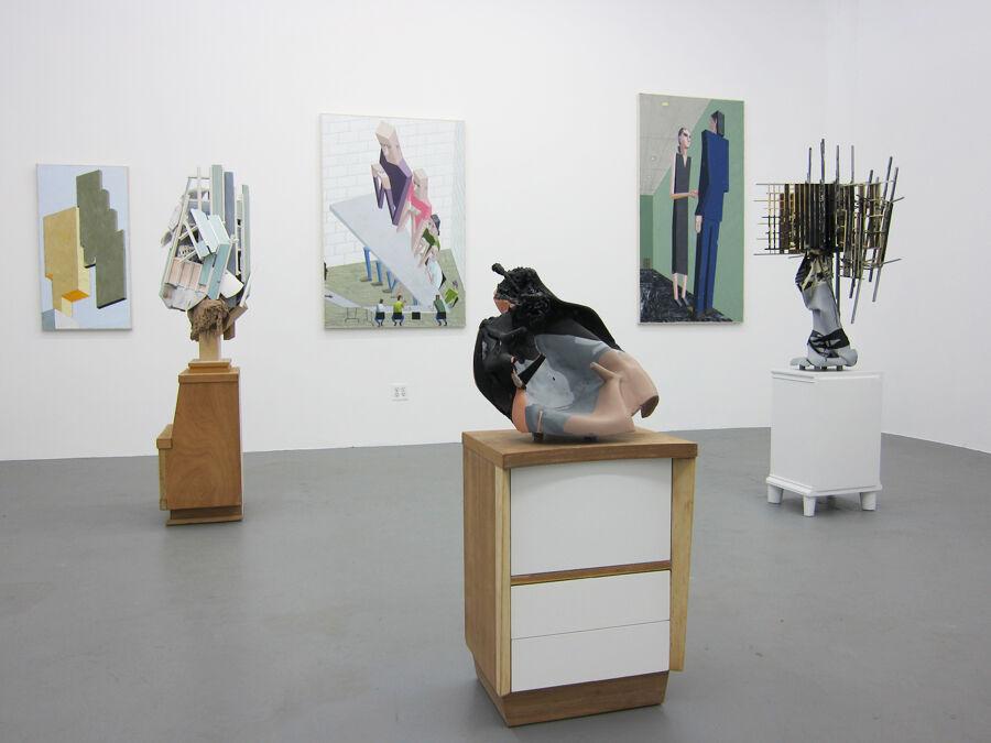 Installation view of work by Jonathan Butt and Mernet Larson at Regina Rex, 2011. Courtesy of Regina Rex.