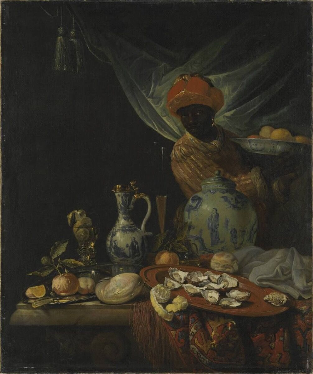 Juriaen van Streeck, Still Life with Moor and Porcelain Vessels, ca. 1670–80. Courtesy of the Sammlung Shack/Bayerische Staatsgemäldesammlungen