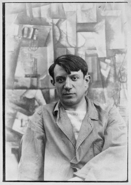 Portrait of Picasso, via Wikimedia Commons.