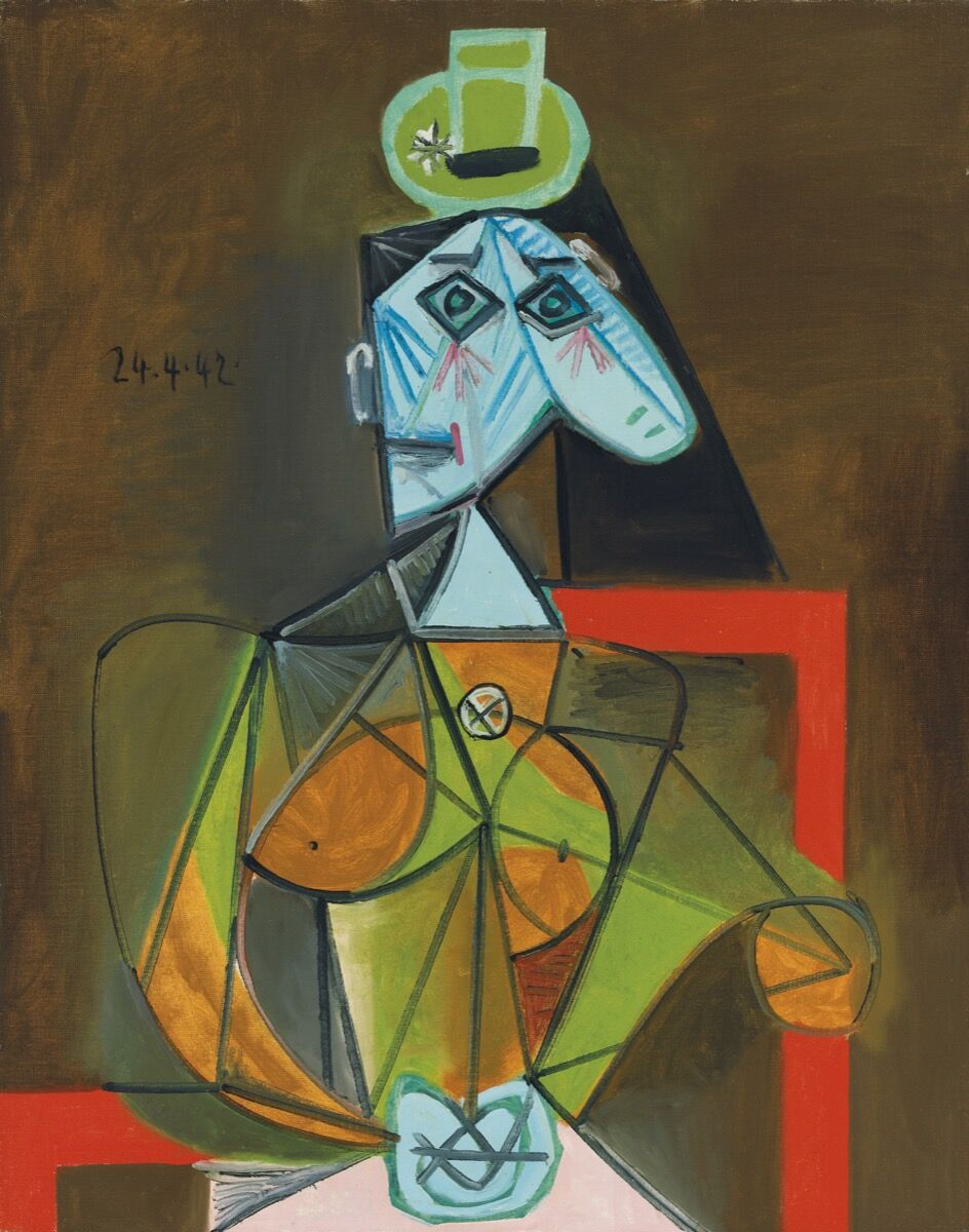 Pablo Picasso, Femme dans un fauteuil (Dora Maar), 1942. © 2018 Estate of Pablo Picasso / Artists Rights Society (ARS), New York. Courtesy of Christie's Images Ltd. 2018.