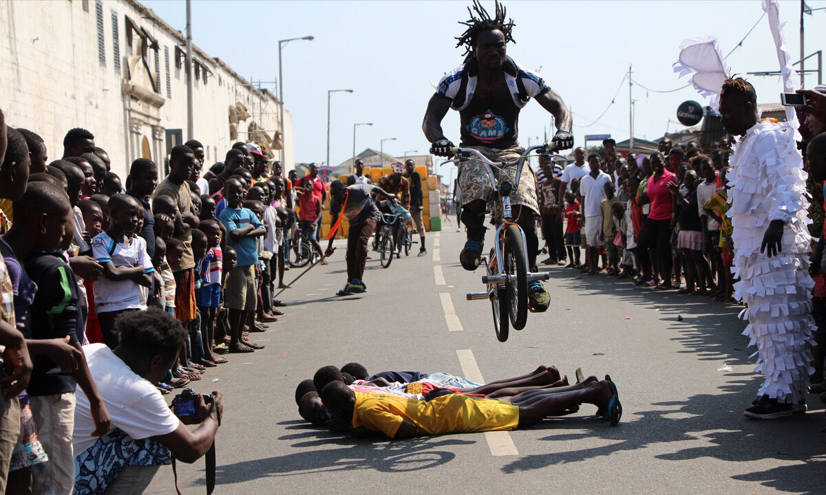 The Chale Wote Street Arts Festival in 2013. Photo by Kwabena Akuamoah-Boateng, via Flickr.