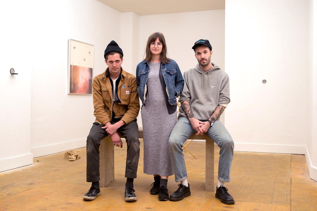 Riley Duncan, Rosie Motley, Curtis Wallen at Motel Gallery. Courtesy Motel Gallery.
